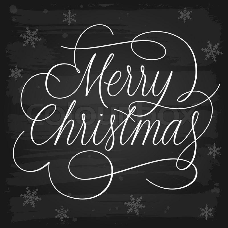 Frohe Weihnachten Gr u00fc u00dfe Slogan auf Tafel   Vektorgrafik   Colourbox