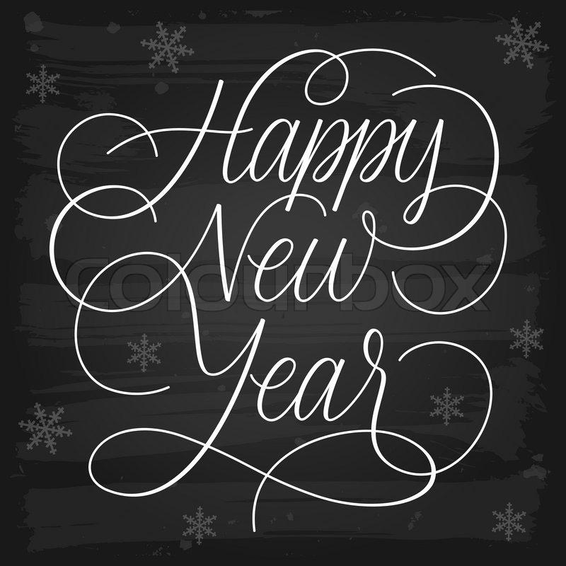 Frohes Neues Jahr Grüße Tafel | Vektorgrafik | Colourbox