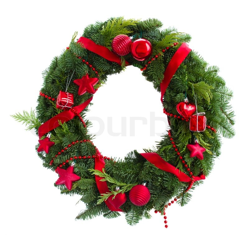 green christmas wreath with