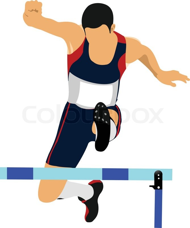 Track And Field Clipart Hurdles