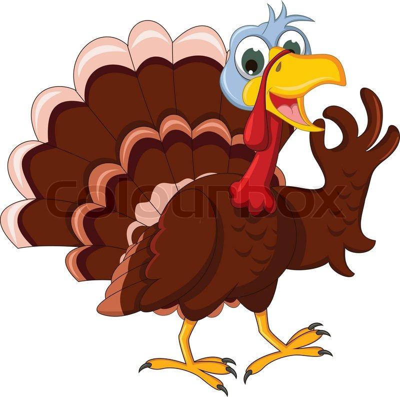 Funny Turkey Cartoon Posing Vector 8068250 on Thanksgiving Pilgrim Feast