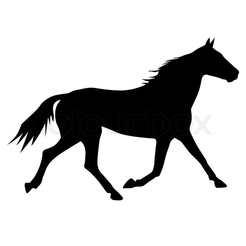 vector silhouette of horse stock vector colourbox rh colourbox com rocking horse silhouette vector horse riding silhouette vector