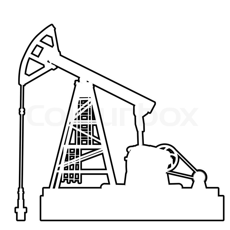 Oil Pumpjack Oil Industry Equipment Stock Vector Colourbox