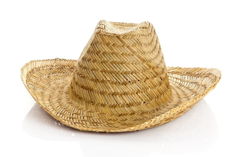 Sombrero Isolated On White Background Straw Hat Stock