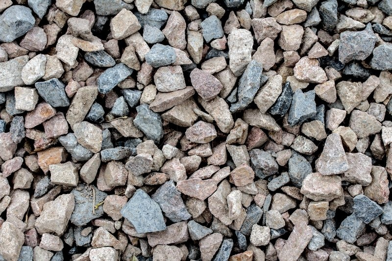 Crushed Stone Colors : Stone rock pieces crushed gravel texture stock photo