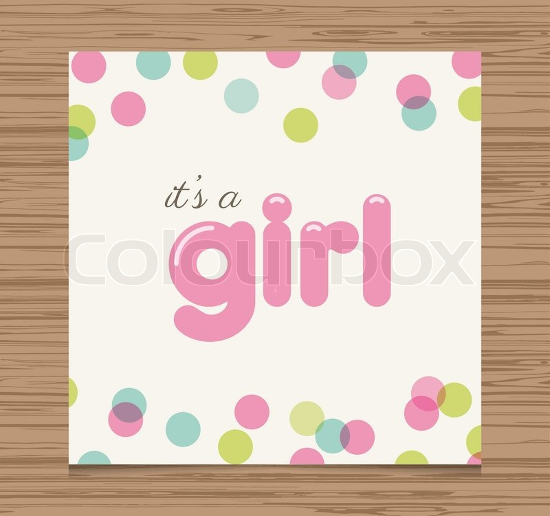 Baby Shower Wiki: Baby Shower Card, Baby Girl, Balloons Type Font Vector