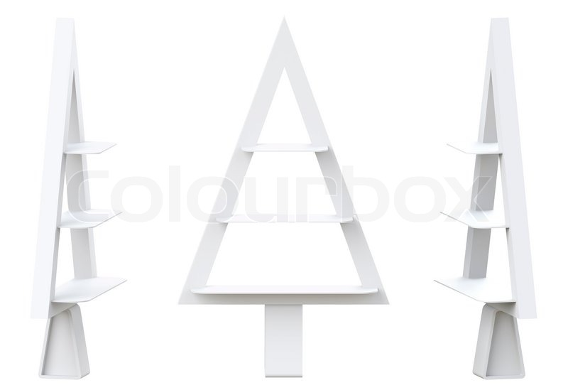 3d christmas tree shelves and shelf design isolated stock photo colourbox