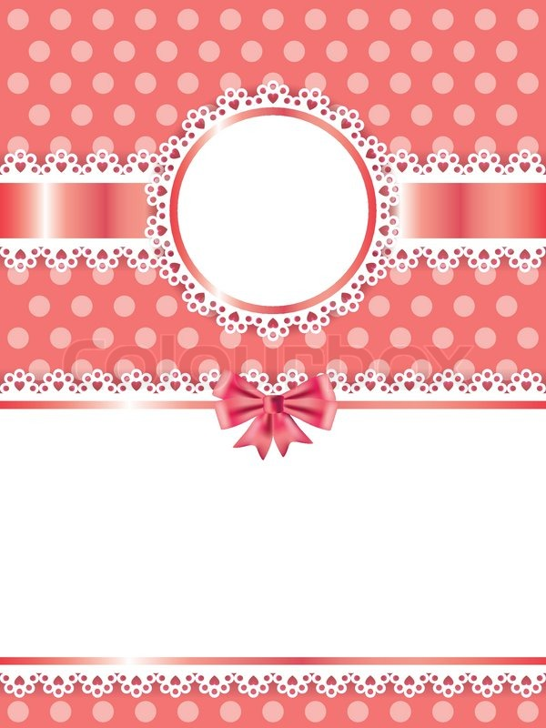 Children pink frame vector background | Stock Vector | Colourbox