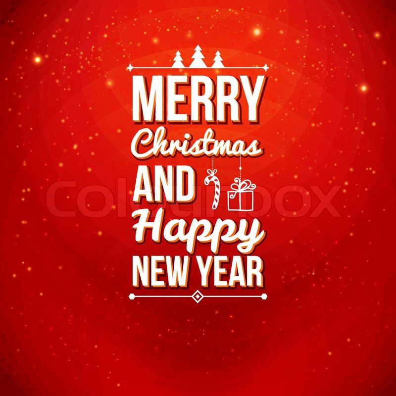 Merry Christmas and Happy new year card. Holiday background and ...