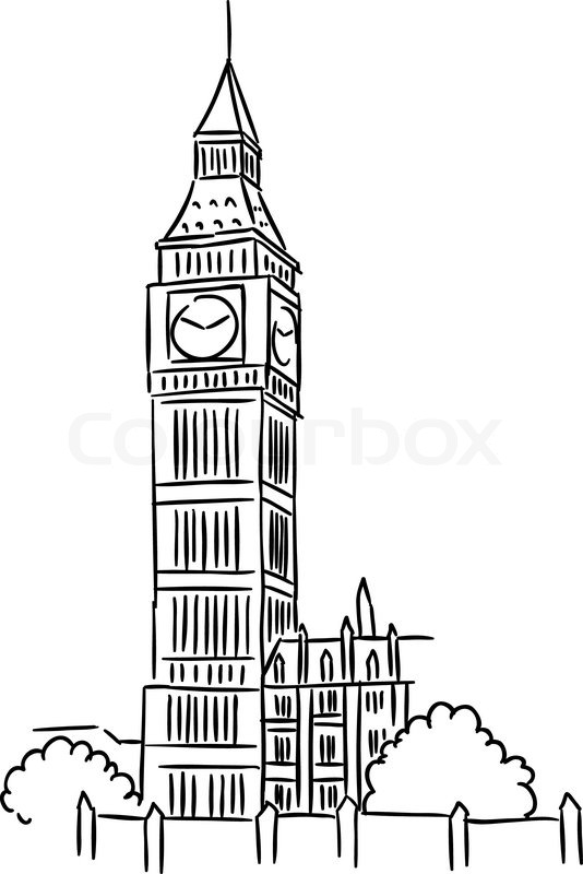 Big Ben Tower In London For Travel Stock Vector Colourbox