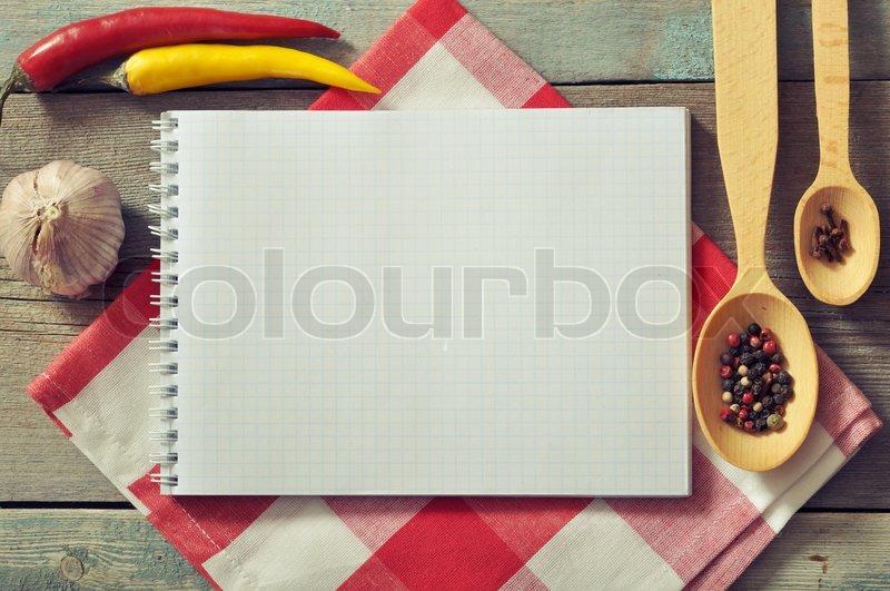 leere rezeptbuch stockfoto colourbox. Black Bedroom Furniture Sets. Home Design Ideas
