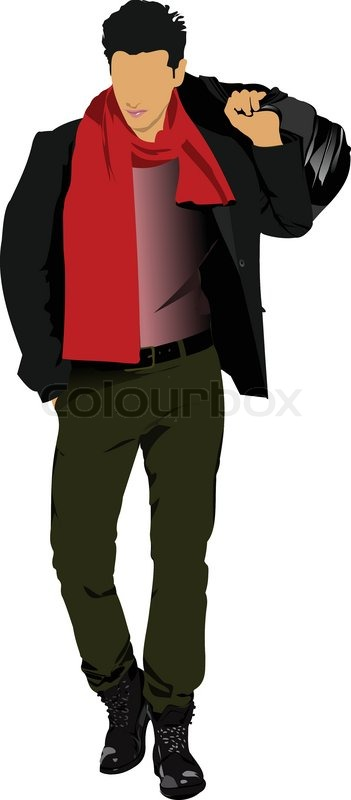 young man with bag vector illustration stock vector