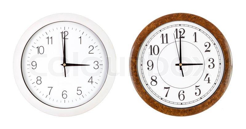 how to write three o clock