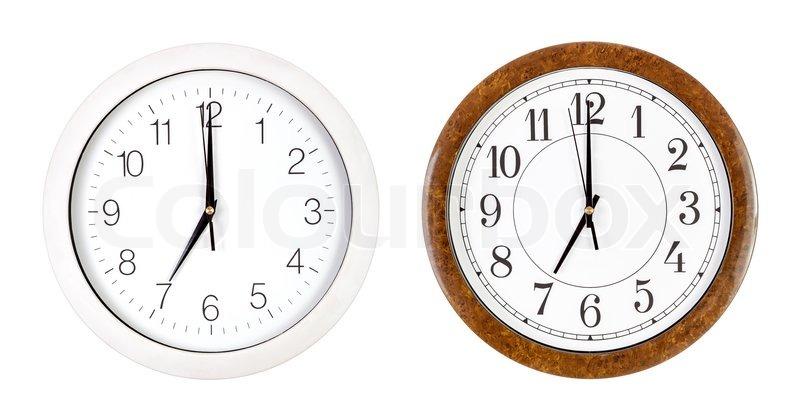 Clock Face Showing 12 O'clock Showing Seven O'clock