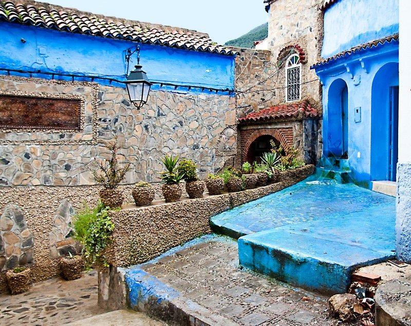 architektonische details und türen von marokko  stockfoto