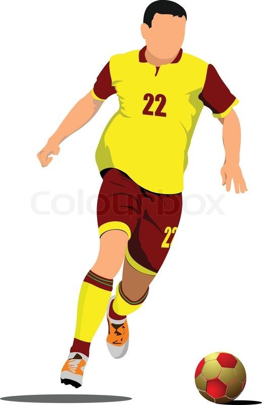 soccer player football player vector illustration stock vector rh colourbox com soccer player vector art soccer player vector graphic