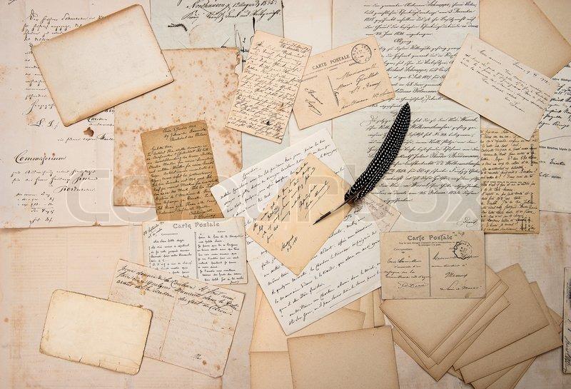 Briefe Und Postkarten 2018 : Briefe handschriften vintage postkarten und feder stift