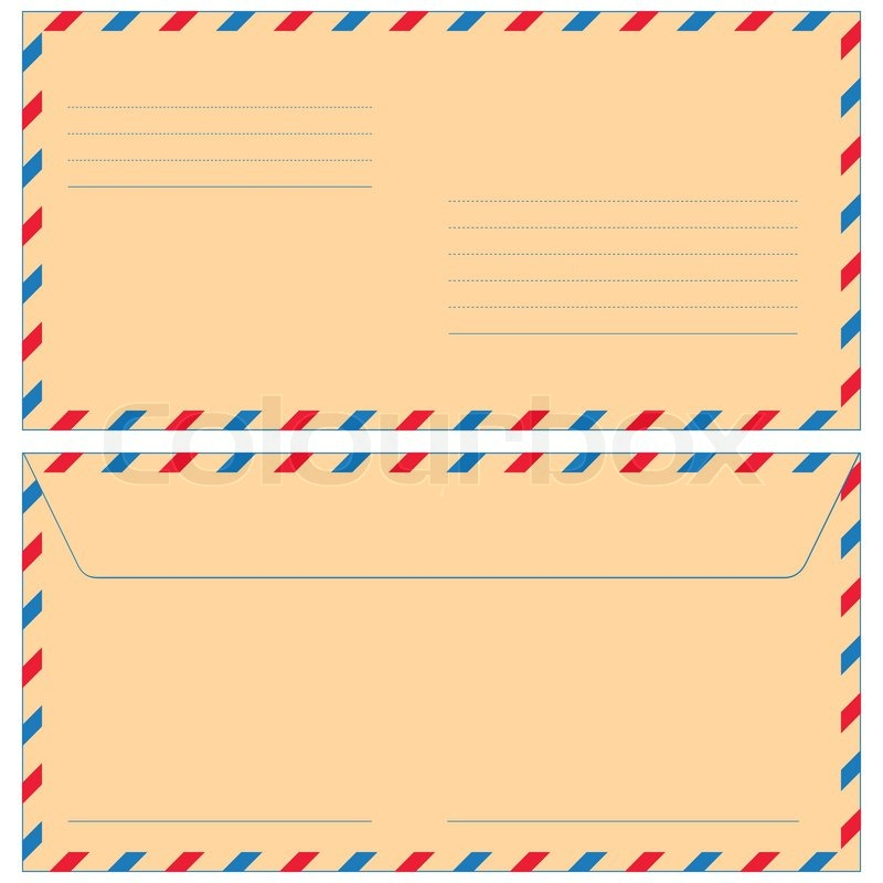Airmail Envelope, Vector