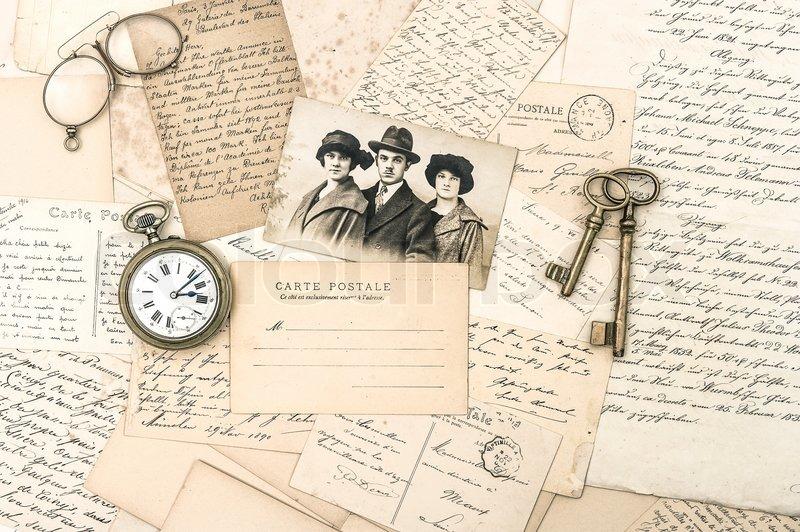 vintage letters postcards photographs - photo #14