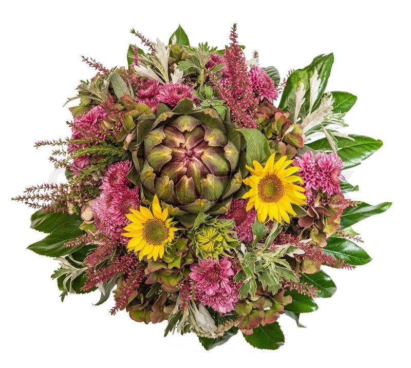 Autumn Flowers Bouquet Floral Stock Photo Colourbox