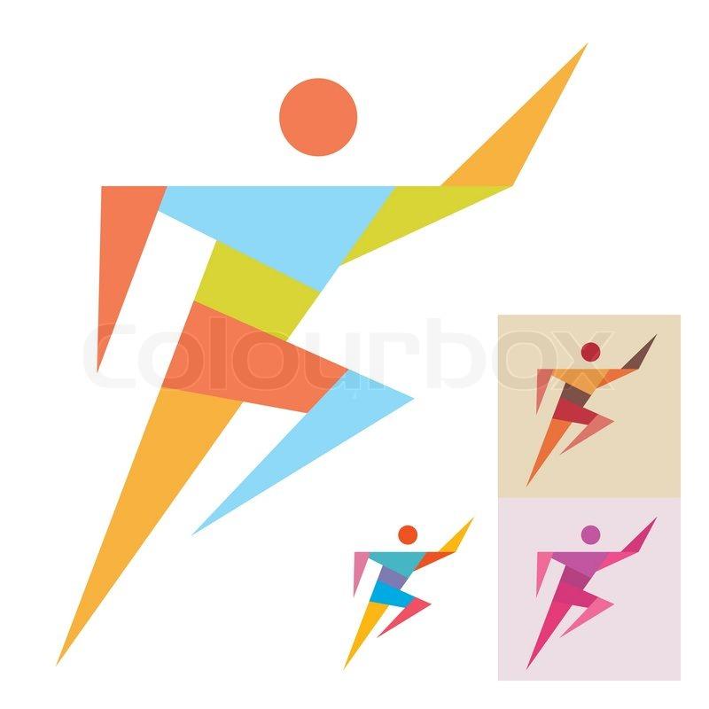 Running Logo Vector Stock Vector of 39 The Logo in