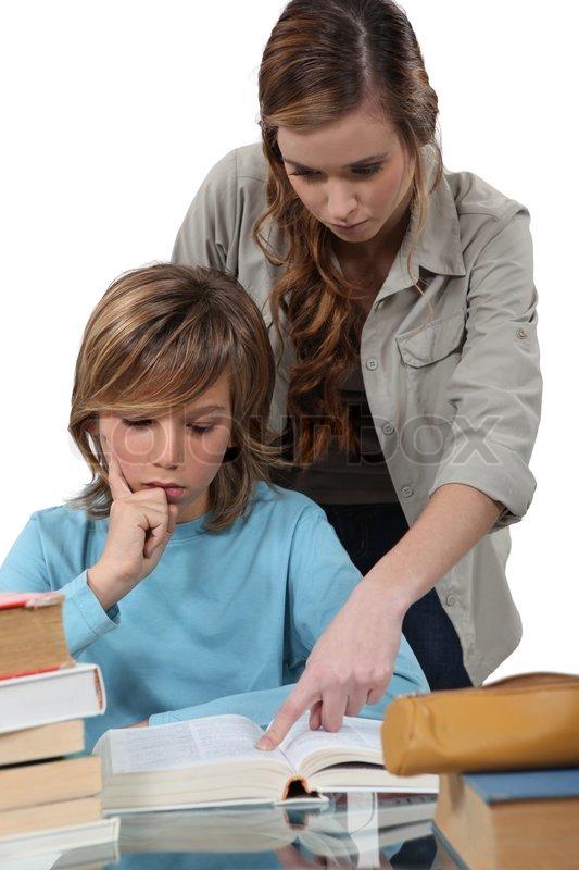 Skolelærer med | Stock foto | Colourbox