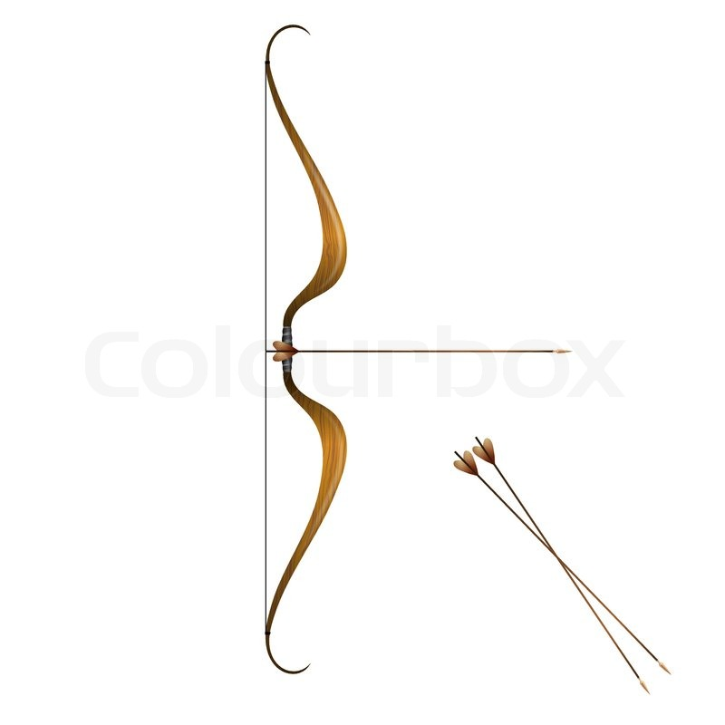 Vintage bow and arrows | Stock Vector | Colourbox