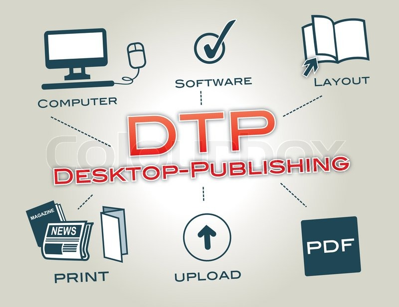 desktop publishing Desktop publishing (also known as dtp) is the creation of documents using page layout software on a personal computer the term has been used for publishing at all levels, from small-circulation documents such as local newsletters to books, magazines and newspapers.