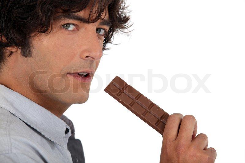 black guy eating candy cane