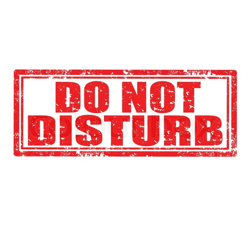 what does do not disturb do on the iphone nicht st 246 ren stempel vektorgrafik colourbox 21446
