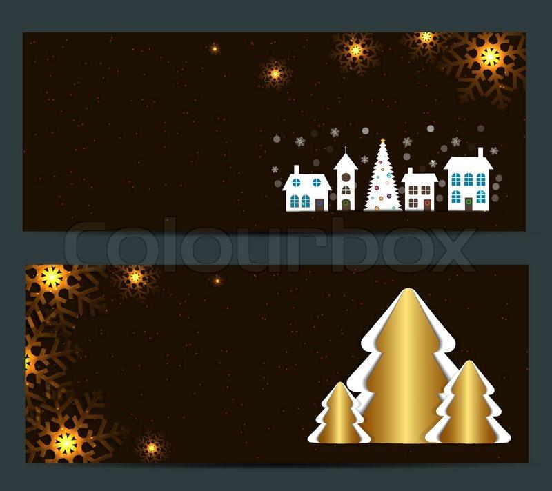 abstrakte sch nheit weihnachten und neujahr banner vektor. Black Bedroom Furniture Sets. Home Design Ideas