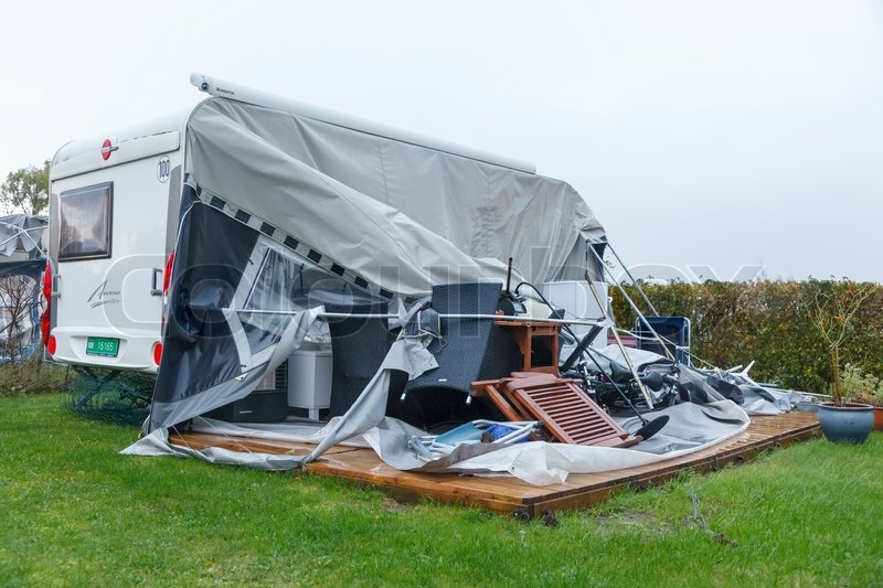 Stevns C&ing the day after the worst storm ever in Denmark | Stock Photo | Colourbox & Stevns Camping the day after the worst storm ever in Denmark ...