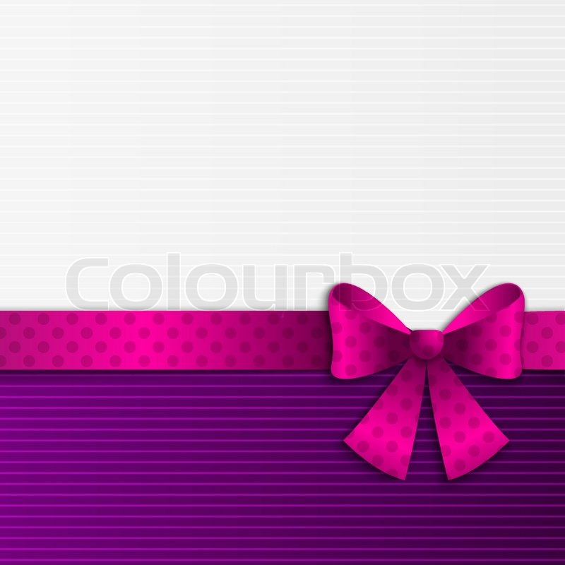 purple and white background with ribbon stock vector