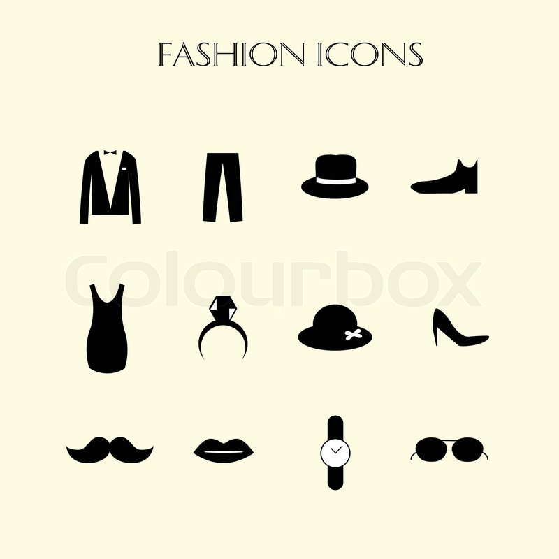 Fashion Icons Set Stock Vector Colourbox