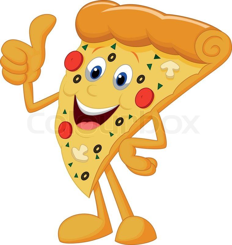 happy pizza cartoon with thumb up stock vector colourbox Heart Banner Clip Art Heart Designs Clip Art