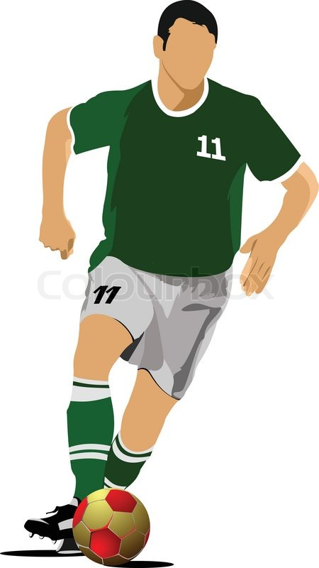 Soccer Player Football Player Vector Illustration Stock Vector