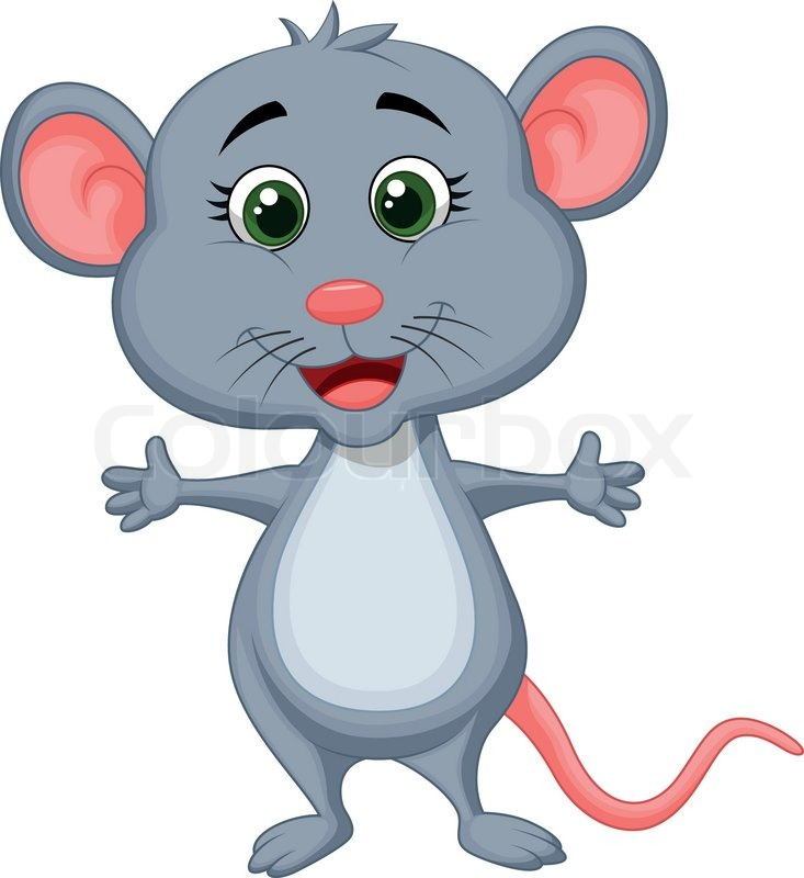 Cute mouse cartoon | Stock Vector | Colourbox
