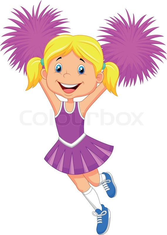 blonde cheerleader Cartoon
