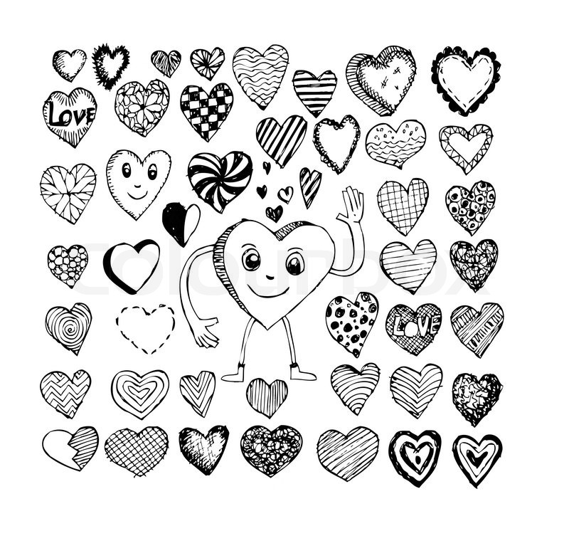 Heart Drawing And Valentines Day Stock Vector Colourbox