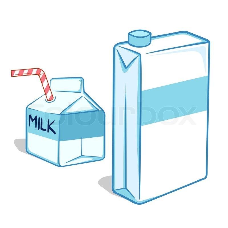 vector illustration of milk carton stock vector colourbox rh colourbox com milk carton cartoon image open milk carton cartoon