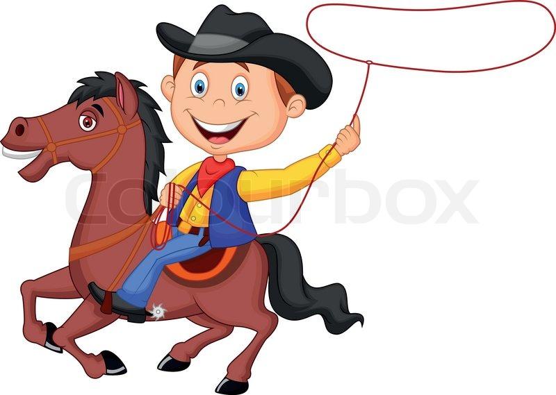 Baby Cowboy Cartoon Of cowboy cartoon rider on
