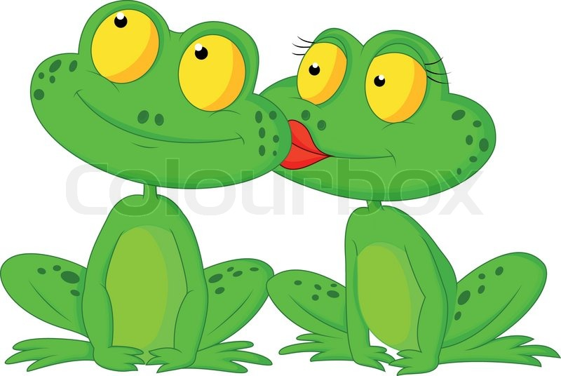 vector illustration of cartoon frog kissing stock vector colourbox
