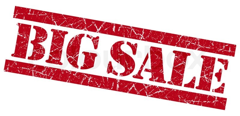 Big sale grunge red stamp stock photo colourbox for Big artwork for sale