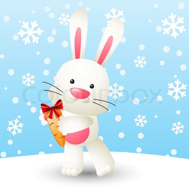 Images of Cute White Rabbits Cute White Rabbit With Carrot