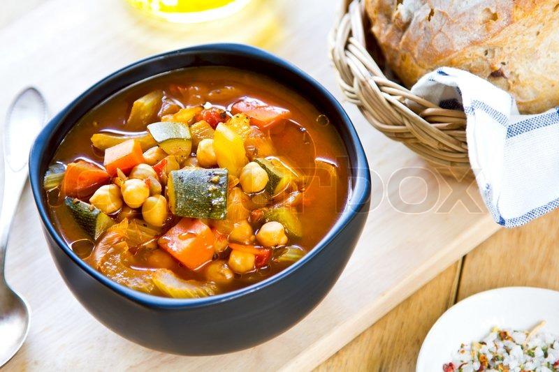 suppe med grøntsager