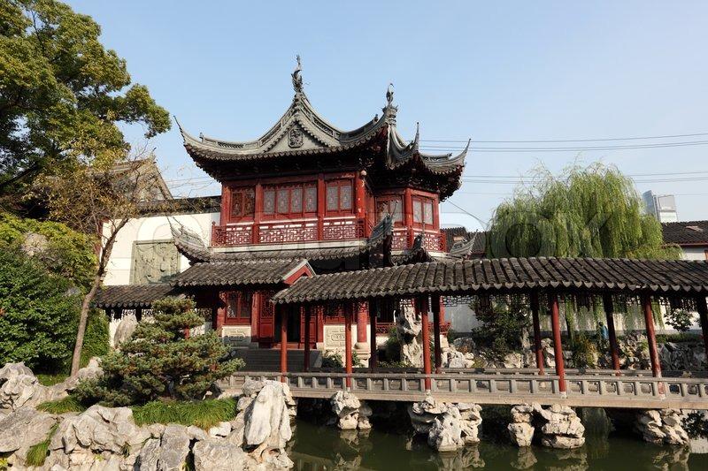 Traditionelle chinesische architektur im yu garten for Casa tradizionale cinese