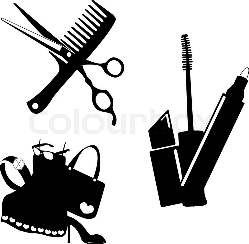 cosmetic make up and beauty icons stock vector colourbox