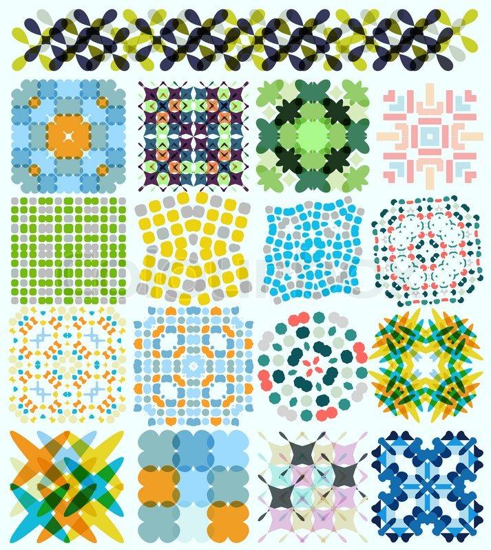 geometrische muster set f r hintergr nde banner vorlagen wallpaper stock vektor colourbox. Black Bedroom Furniture Sets. Home Design Ideas