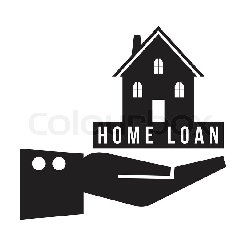 house in hand with home loan concept  vector format