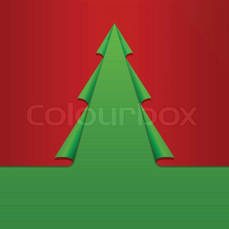 Kreative weihnachtsbaum schablone zusammenrollen corners - Weihnachtsbaum schablone ...